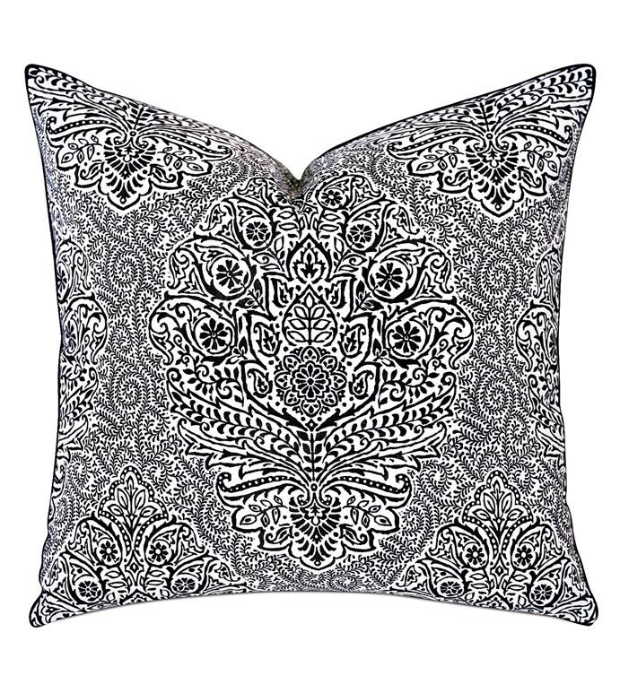 Spectator Damask Decorative Pillow - ,