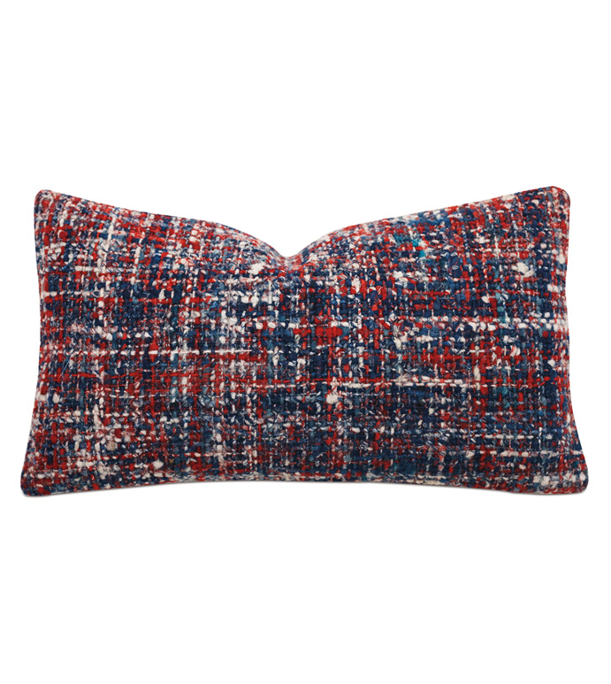 Newport Textured Accent Pillow - ACCENT PILLOW,THROW PILLOW,ACCENT PILLOW,BARCLAY BUTERA BY EASTERN ACCENTS,MULTICOLORED,COASTAL,TEXTURED,CHECKERED,KNIFE EDGE FINISHING,