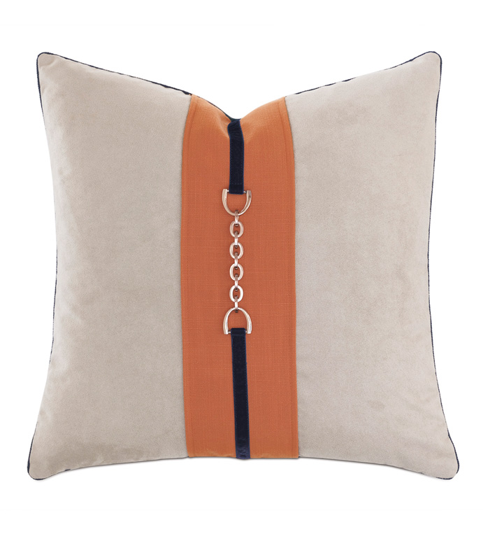 Ladue Accent Pillow In Taupe - ACCENT PILLOW,THROW PILLOW,ACCENT PILLOW,BARCLAY BUTERA BY EASTERN ACCENTS,TAUPE,TRADITIONAL,VELVET,SOLID,CORD,