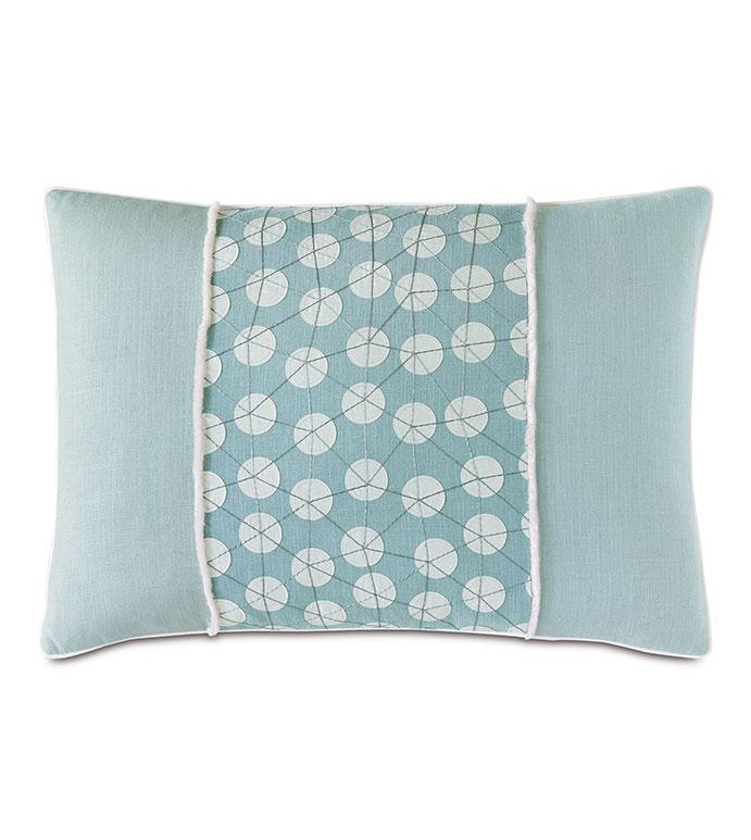Bimini Embroidered Decorative Pillow
