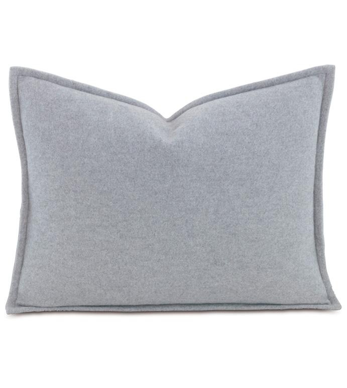 Brera Flannel Boudoir Sham In Gray - ,