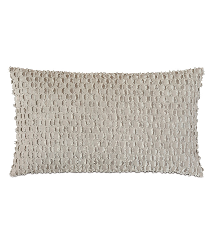 Evangeline Textured Accent Pillow In Taupe - ACCENT PILLOW,THROW PILLOW,ACCENT PILLOW,NICHE BY EASTERN ACCENTS,TAUPE,CONTEMPORARY,TEXTURED,SOLID,KNIFE EDGE FINISHING,