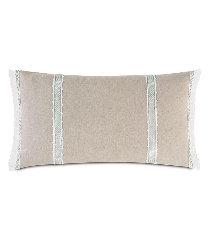 Amberlynn Gimp Detail Decorative Pillow - ,15X26 PILLOW,NEUTRAL PILLOW,RECTANGLE PILLOW,NEUTRAL BOLSTER,MINIMAL PILLOW,LUXURY PILLOW,NEUTRAL THROW PILLOW,PICOT TRIM,CASUAL DECOR,COASTAL DECOR,NEUTRAL INTERIORS,