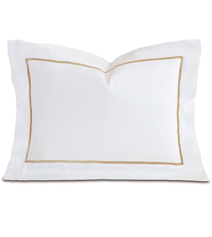 Linea Velvet Ribbon Boudoir In White & Sable - ,