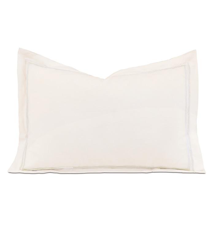 Enzo Ivory/White Boudoir Sham - ,