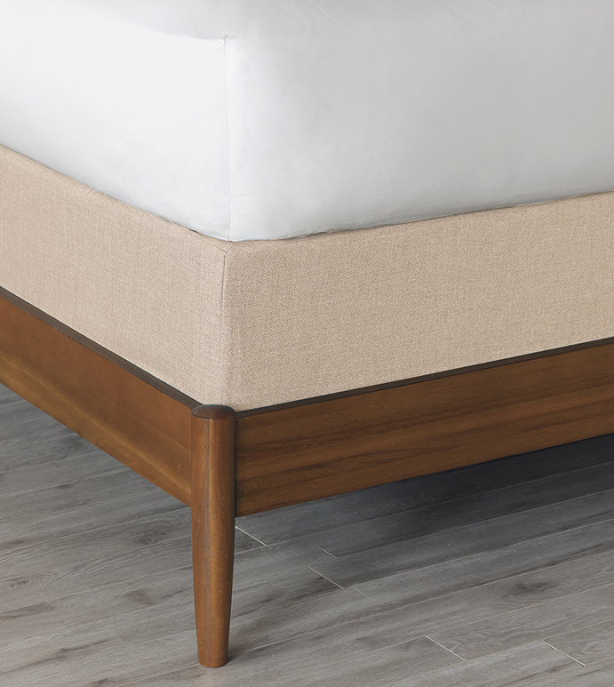 Vivo Bisque Box Spring Cover - BOX SPRING COVER,BISQUE,SOLID COLOR,NONDIRECTIONAL,CONTEMPORARY,TRANSITIONAL,BEDDING,DECORATIVE,DECKING BORDER,GUSSET,ELASTIC BAND,SNUG FIT,HIGH QUALITY FABRIC,COTTON,POLYESTER