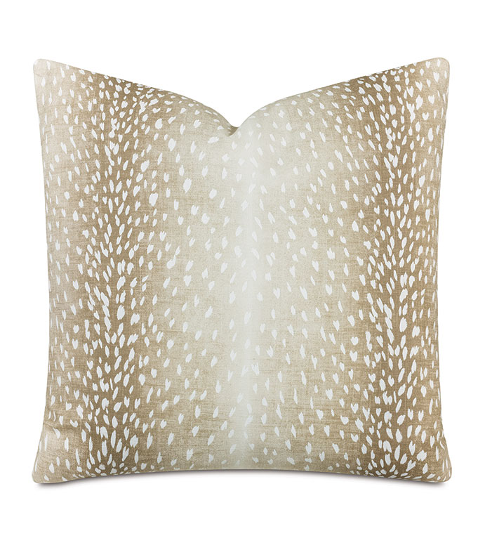 Wiley Animal Print Decorative Pillow In Fawn - ANIMAL PRINT,LEOPARD PRINT,DEER PRINT,OMBRE,GRADIENT,FADED,NEUTRAL,PILLOW,PRINT,DECORATIVE PILLOW,THROW PILLOW,ACCENT PILLOW,EASTERN ACCENTS,LUXURY,DESIGNER,SPOTTED,SPOTTED PRINT,
