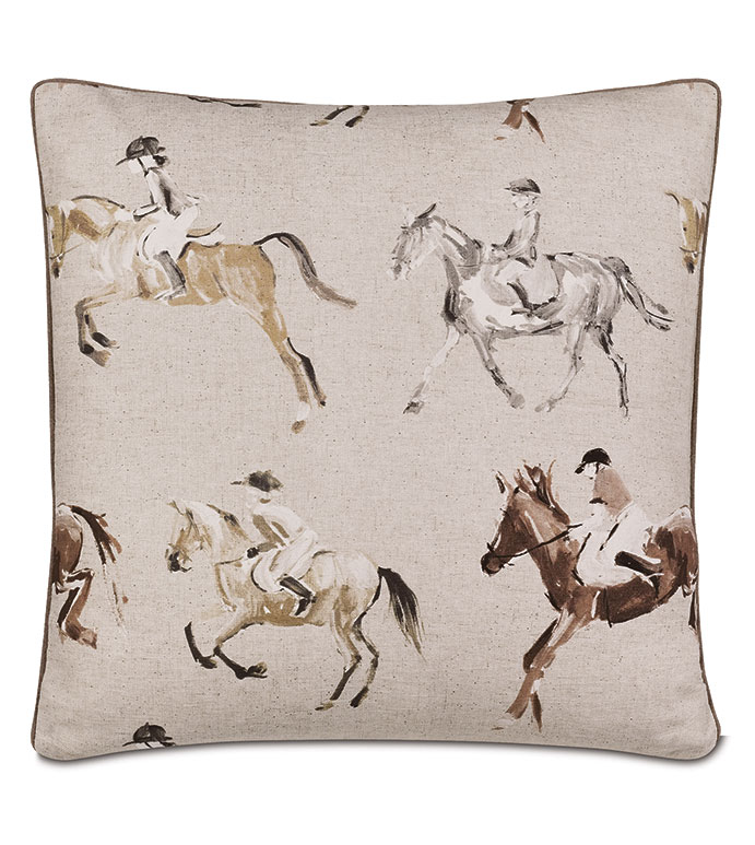 Jockey Equestrian Decorative Pillow - ,KENTUCKY DERBY,DERBY PRINT,HORSE RACING PRINT,EQUESTRIAN PILLOW,EQUESTRIAN DECOR,EQUESTRIAN PRINT,JOCKEY PRINT,DERBY PILLOW,HORSE RACING,DERBY DECORATIONS,TRIPLE CROWN,