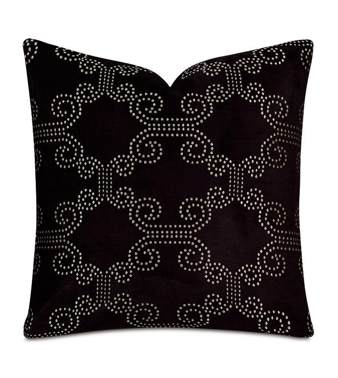 Elton Onyx Decorative Pillow - ,