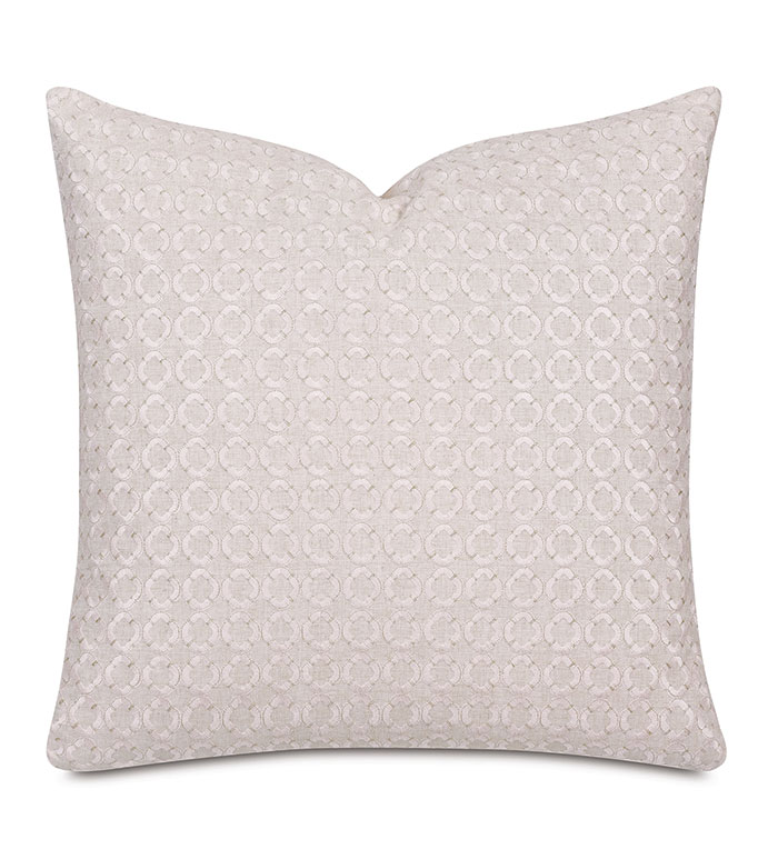Elsie Embroidered Decorative Pillow - ,22X22 PILLOW,EMBROIDERED PILLOW,GEOMETRIC EMBROIDERY,WHITE PILLOW,BEIGE PILLOW,LUXURY PILLOW,LARGE DECORATIVE PILLOW,LUXURY EMBROIDERY,LUXURY HOME DECOR,PINK PILLOW,