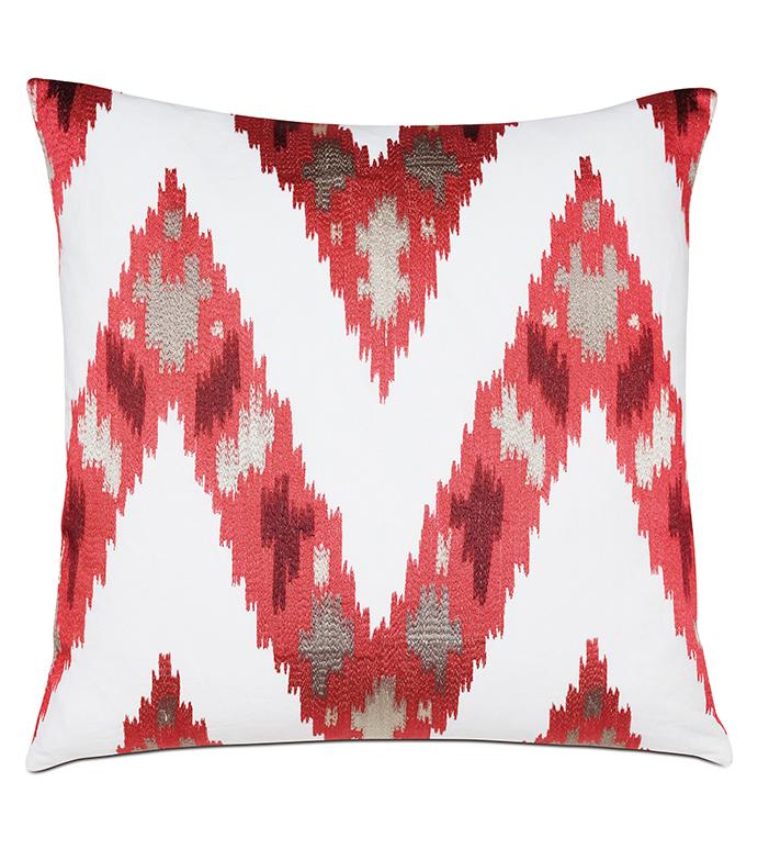 Nardo Crimson Decorative Pillow - ,