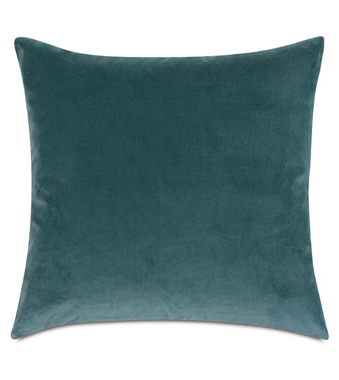 Uma Velvet Decorative Pillow In Teal - ,22X22 PILLOW,LARGE PILLOW,DECORATIVE PILLOW,VELVET PILLOW,TEAL PILLOW,TEAL VELVET,BLUE PILLOW,BLUE VELVET,VELVET THROW PILLOW,LUXURY VELVET,LUXURY PILLOW,TEAL DECOR,AQUA PILLOW,