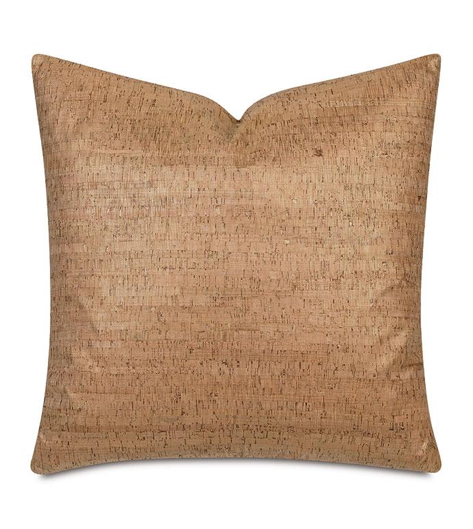 Cerris Metallic Decorative Pillow In Gold