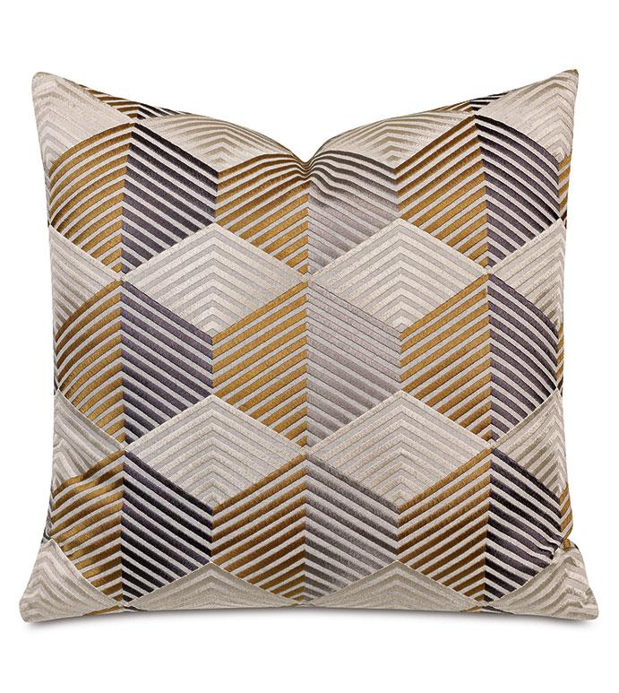 Etude Zig Zag Decorative Pillow In Mustard
