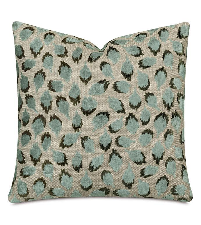 Ocelot Decorative Pillow In Spa