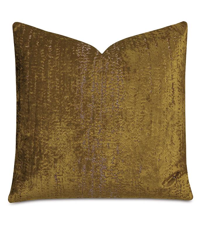 Focaccia Decorative Pillow In Citron