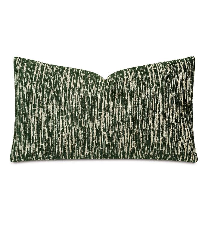 Carlton Woven Decorative Pillow In Forest - DECORATIVE PILLOW,ACCENT PILLOW,THROW PILLOW,PILLOW,GREEN,EMERALD,GREEN PILLOW,22X22,RECTANGULAR,TEXTURED,WOVEN PATTERN,GREEN ABSTRACT PILLOW,REVERSIBLE,ABSTRACT PATTERN