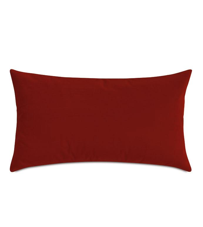 Uma Velvet Decorative Pillow In Rust - ,15X26 PILLOW,LARGE BOLSTER,VELVET BOLSTER,RED BOLSTER,VELVET PILLOW,RED VELVET,RUST VELVET,RUST PILLOW,TERRACOTTA PILLOW,VELVET PILLOW,VELVET THROW PILLOW,RUST BOLSTER,RUST COLOR,