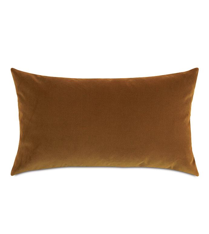 Uma Velvet Decorative Pillow In Gold - ,15X26 PILLOW,LARGE BOLSTER,RECTANGLE PILLOW,LUXURY BOLSTER,VELVET BOLSTER,YELLOW PILLOW,YELLOW BOLSTER,YELLOW VELVET,GOLD VELVET,VELVET PILLOW,YELLOW THROW PILLOW,LUXURY PILLOW,