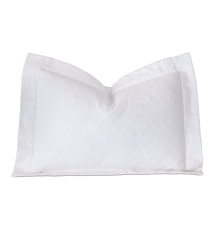 Sweetness Boudoir Sham - pillow, throw pillow,matelasse pillow,rectangle pillow,decorative white pillow,boudoir sham pillow,sham accent pillow,polka dot pillow,tradtional pillow,white pillow,cotton pillow