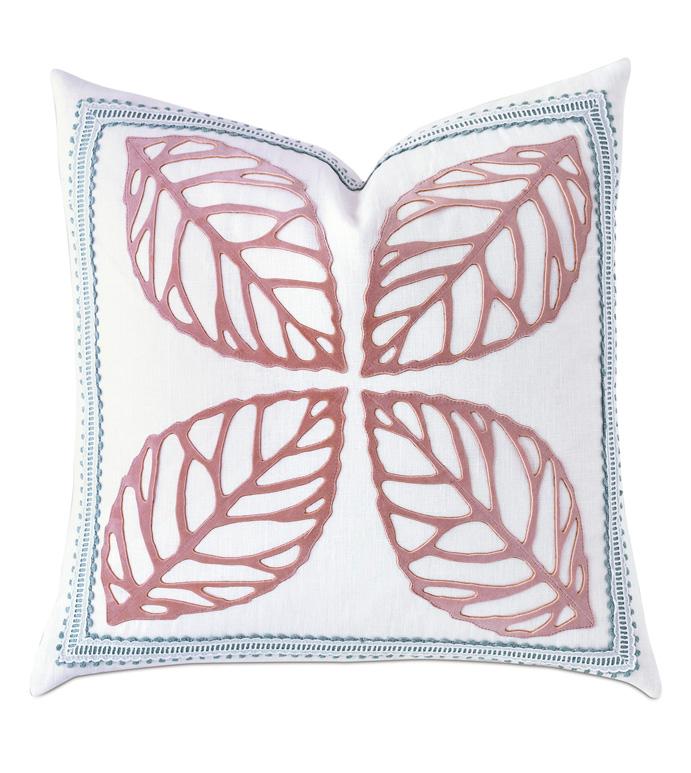 Adare Manor Lasercut Decorative Pillow - DECORATIVE PILLOW,THROW PILLOW,ACCENT PILLOW,LEAF,LEAF PATTERN,VELVET,LACE,EARTHY,WOODLANDS,LUXURY BEDDING,DESIGNER,INTERIOR DESIGN