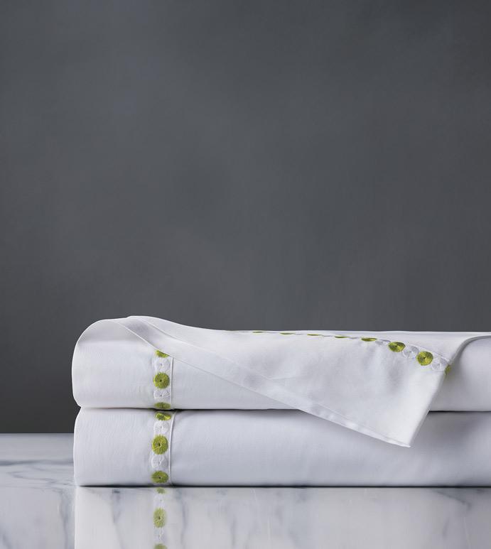 Tivoli Lime Flat Sheet - flat sheet,queen flat sheet,white sheet,washable flat sheet,lime sheet,high thread count,sheet,egyptian cotton sheet,luxury linen,luxury sheet,high end bedding,bedding,top of bed