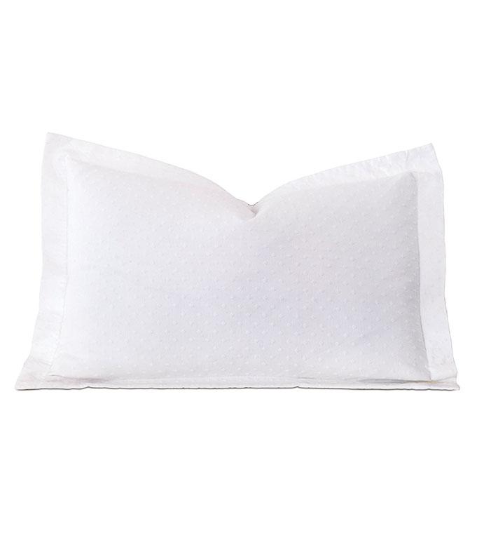 Sweetness Queen Sham - pillow,throw pillow,matelasse pillow,queen pillow,rectangle pillow,decorative pillow,queen sham pillow,queen accent pillow,customizable pillow,white pillow,polka dot sham