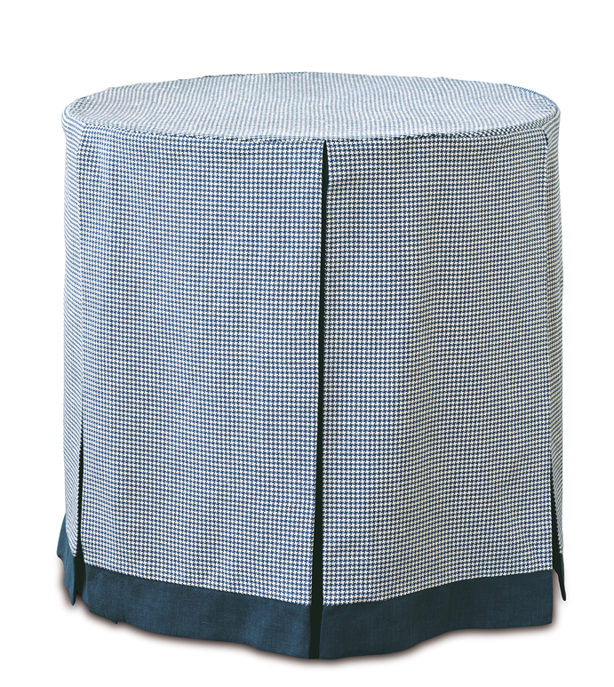 Wolcott Indigo Table Cloth - table cloth,skirted table cloth,traditional table cloth,celerie kemble table cloth,customizable table cloth,blue table cloth,wolcott plaid table cloth,whimsical table top,table top