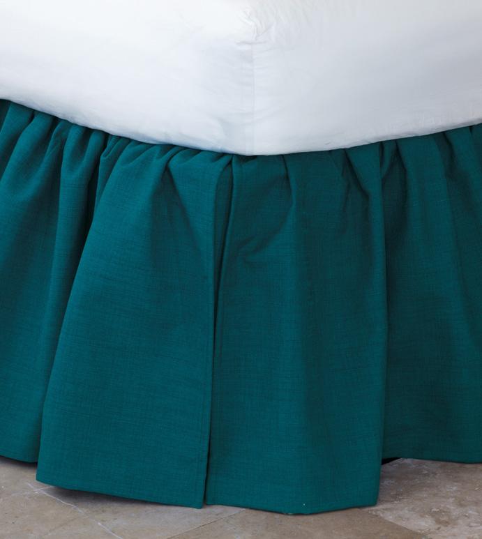 Lacecap Skirt - bed skirt,queen bed skirt,peacock bedskirt,queen dust ruffle,custom bedskirt,vintage bed skirt,classic bed skirt,whimsical bed skirt,luxury bedding,high end bedding,femine bedding