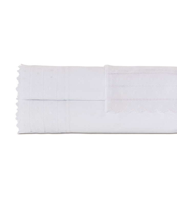 Harper White Sheet Set