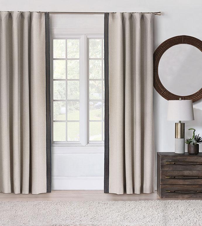 Greer Linen Curtain Panel (Left)