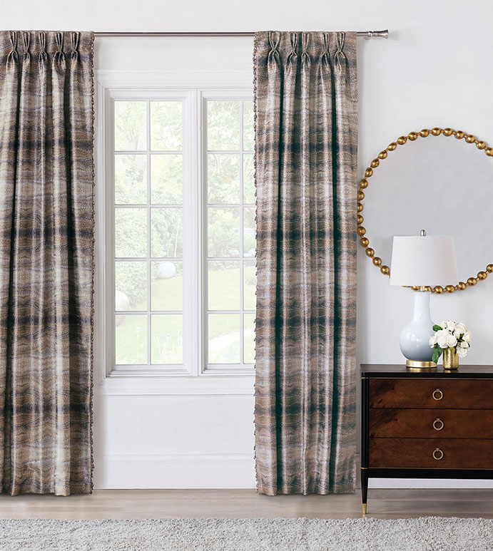 Imogen Metal Curtain Panels Right