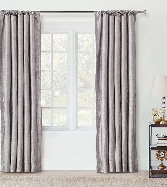 Reflection Taupe Curtain Panel - SILVER,TAUPE,GREY,DESIGN,GLAM,MODERN,METALLIC,BEDROOM,LUXURY BEDDING,INTERIOR DESIGN,MODERN,ROD POCKET,DRAPERY,CURTAIN,PANEL,WINDOW,WINDOW TREATMENT,SHINY,FEMININE,SOLID