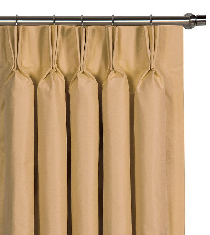 Edris Gold Curtain Panel - ,