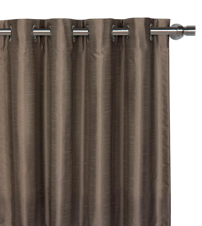 Edris Taupe Curtain Panel - ,