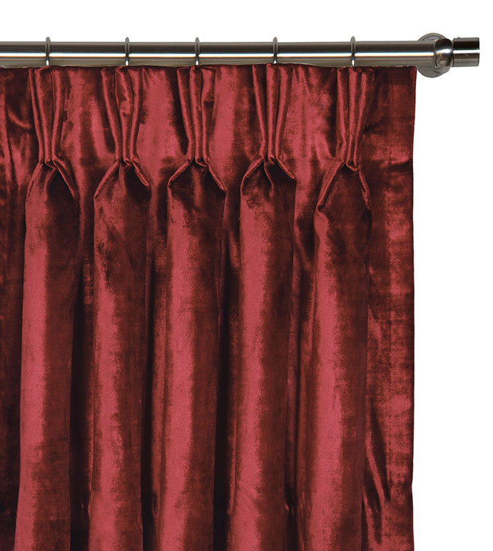 Winchester Cabernet Curtain Panel - ,
