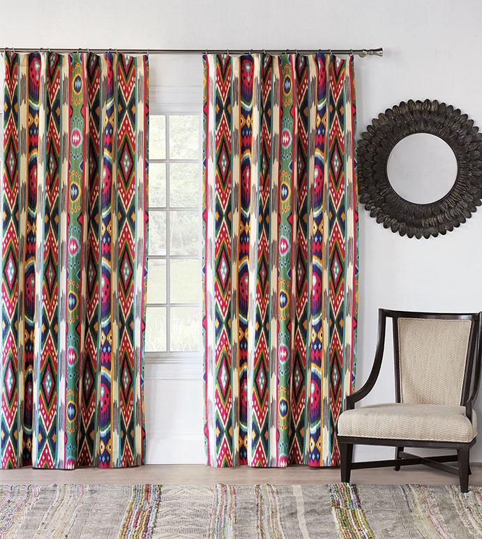 Akela Ikat Curtain Panel