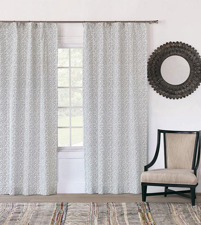 Hugo Speckled Curtain Panel - CURTAIN,DRAPERIES,DRAPES,CURTAIN PANEL,BLUE AND WHITE,SPECKLED,DOTTED,POLKA-DOTS,ROD POCKET,LUXURY,CUSTOM,KIDS,CHILDRENS,BOYS,LUXURY,