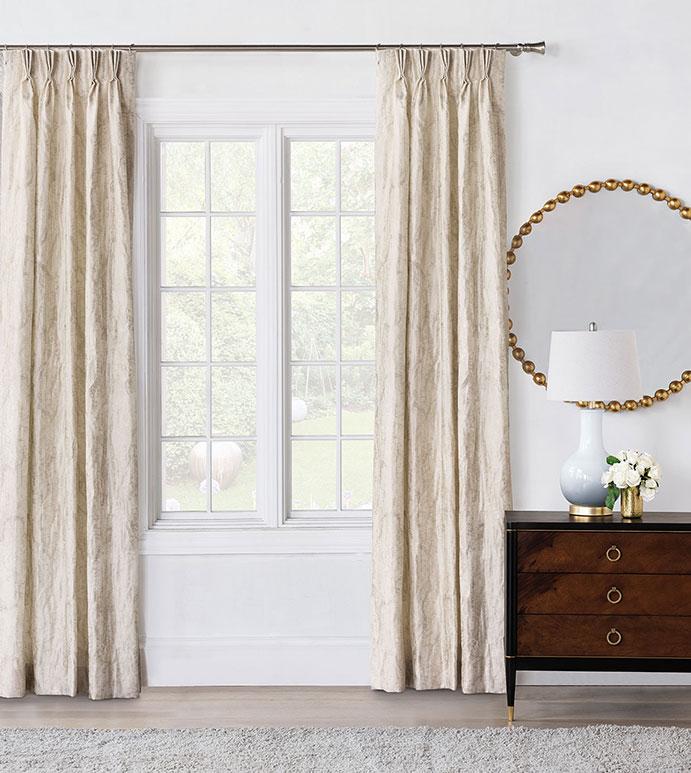 Halo Champagne Curtain Panel