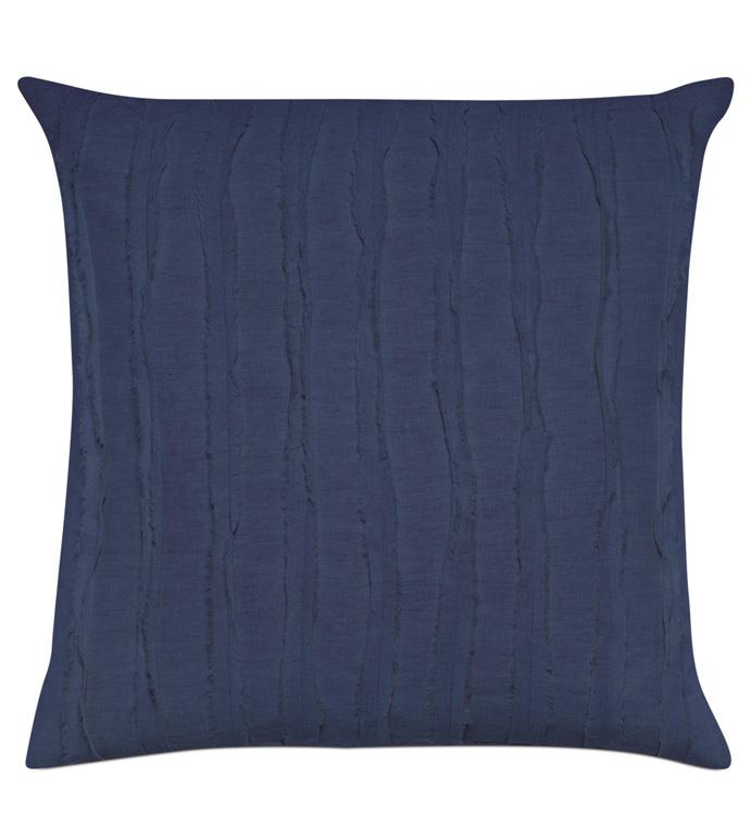 Shiloh Indigo Square Decorative Pillow - ,