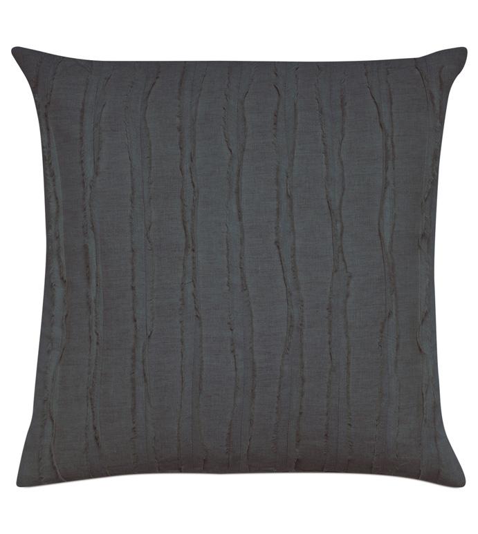 Shiloh Charcoal Square Decorative Pillow - ,