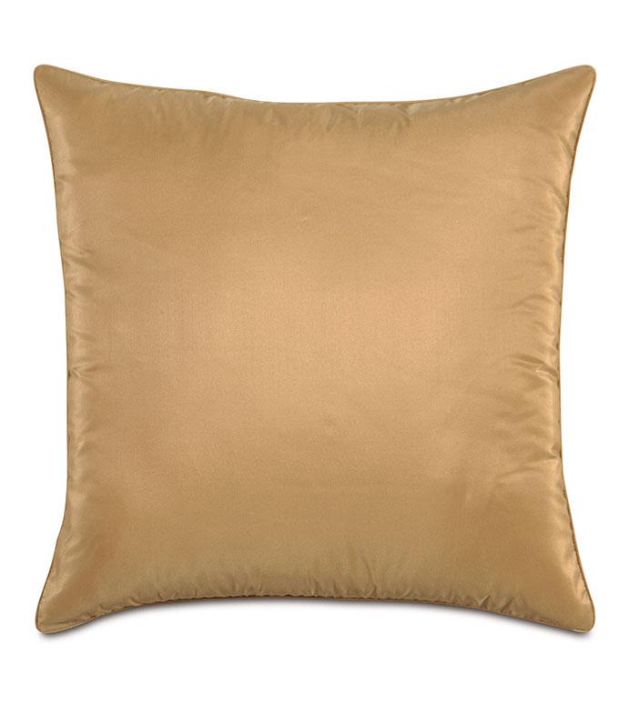 Freda Taffeta Decorative Pillow in Gold - GOLD,DECORATIVE PILLOW,PILLOW,ACCENT PILLOW,THROW PILLOW,OPULENT,GLAM,SQUARE,20X20,HOME DECOR,LUXURY,MADE IN USA,TAFFETA,SILKY,SHINY,