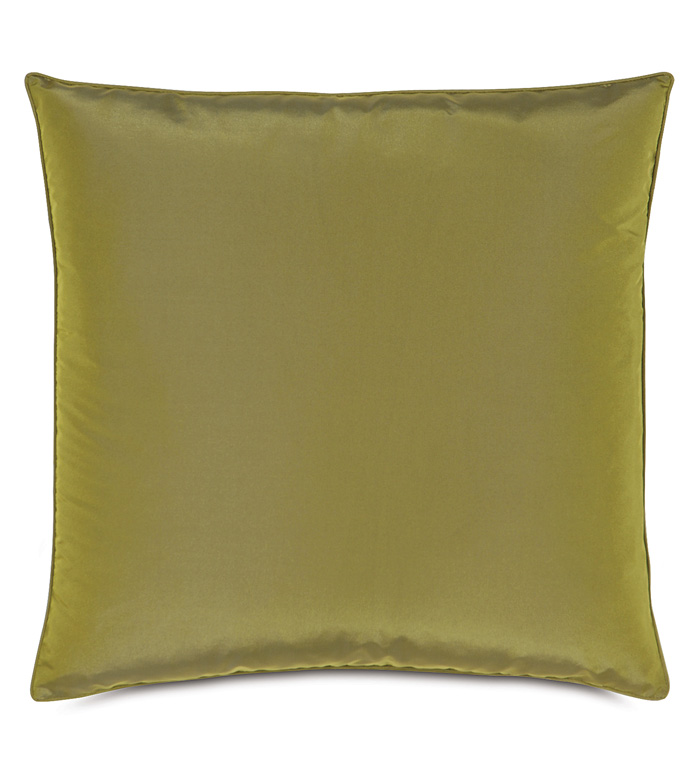 Freda Taffeta Decorative Pillow in Chartreuse - CHARTREUSE,CITRON,GREEN,OLIVE,TAFFETA,SILKY,SHINY,20X20,SQUARE,PILLOW,DECORATIVE PILLOW,ACCENT PILLOW,THROW PILLOW,TRADITIONAL,BEDDING,HOME DECOR,ACCENT,ACCESSORIES,MADE IN USA