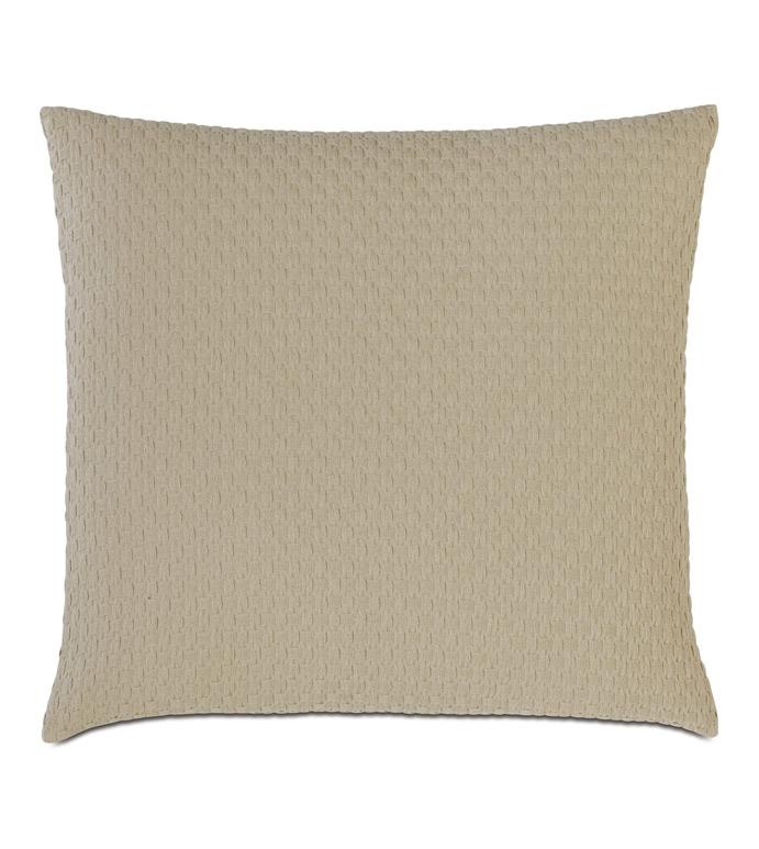 Tegan Matelasse Decorative Pillow In Sand - ,
