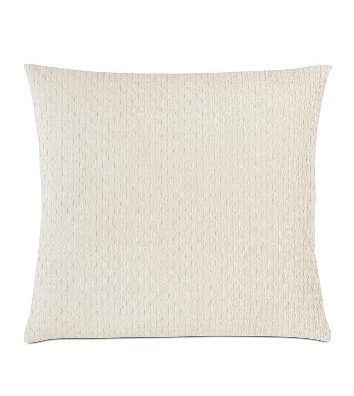 Tegan Matelasse Decorative Pillow In Ivory - ,