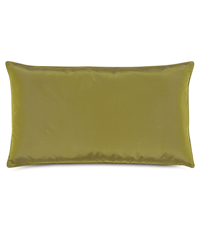 Freda Taffeta Decorative Pillow in Chartreuse - CHARTREUSE,CITRON,GREEN,OLIVE,TAFFETA,SILKY,SHINY,15X26,RECTANGULAR,PILLOW,DECORATIVE PILLOW,ACCENT PILLOW,THROW PILLOW,TRADITIONAL,BEDDING,HOME DECOR,ACCESSORIES,MADE IN USA