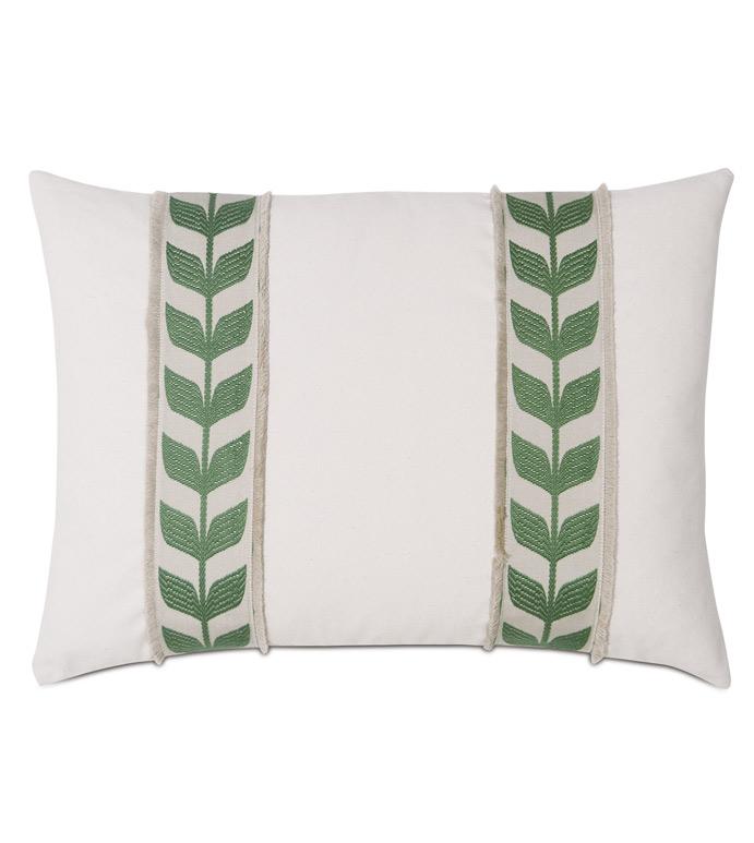 Akela Leaf Decorative Pillow In Green - ,