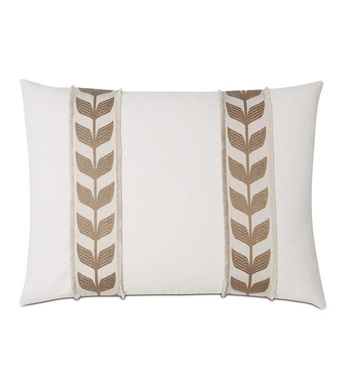 Akela Leaf Decorative Pillow In Gold - ,