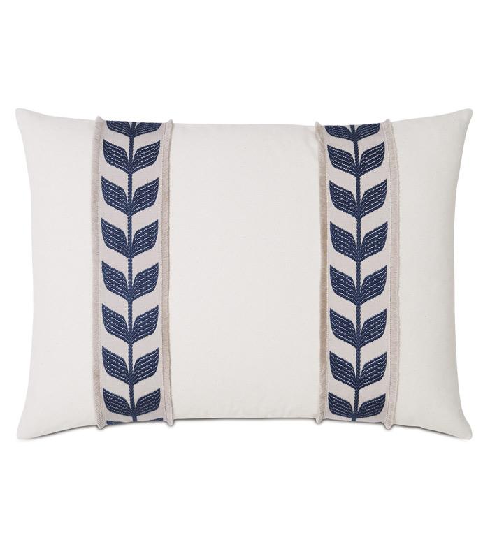 Akela Leaf Decorative Pillow In Blue - ,