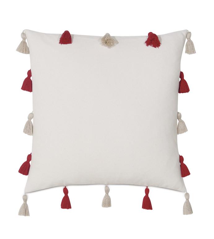 Akela Tassel Decorative Pillow - ,
